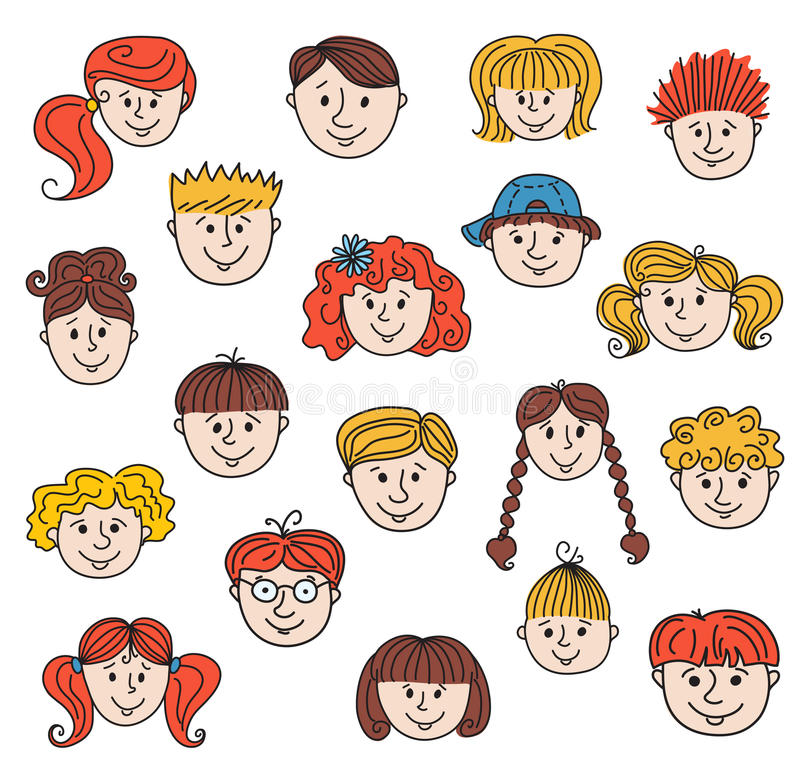 Children Faces Royalty Free Stock Image