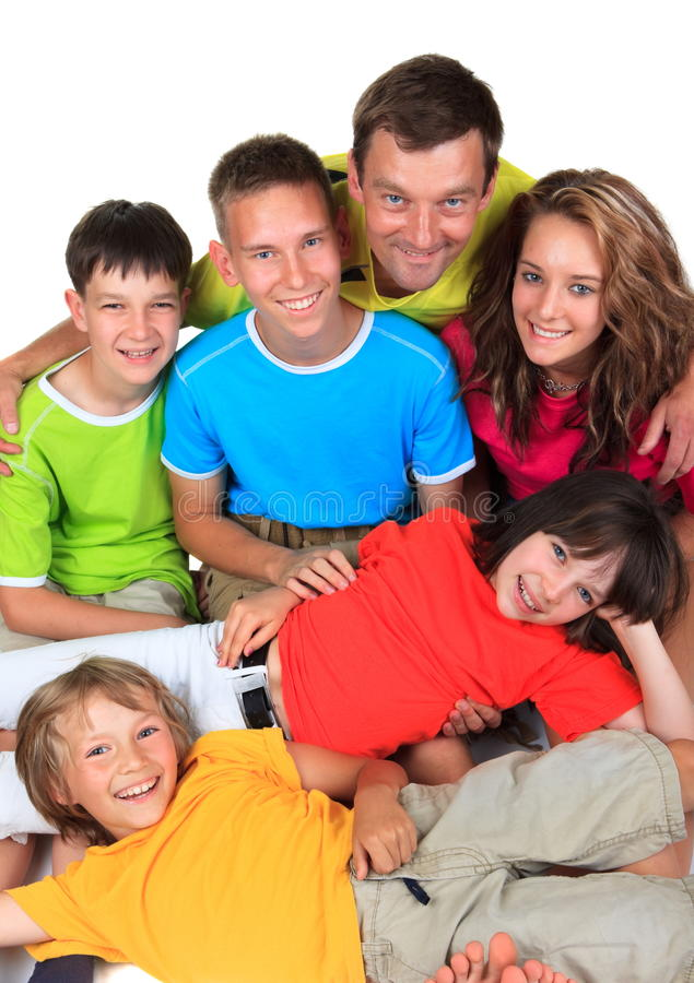 Download Children with father stock image. Image of smile, bright - 13540891