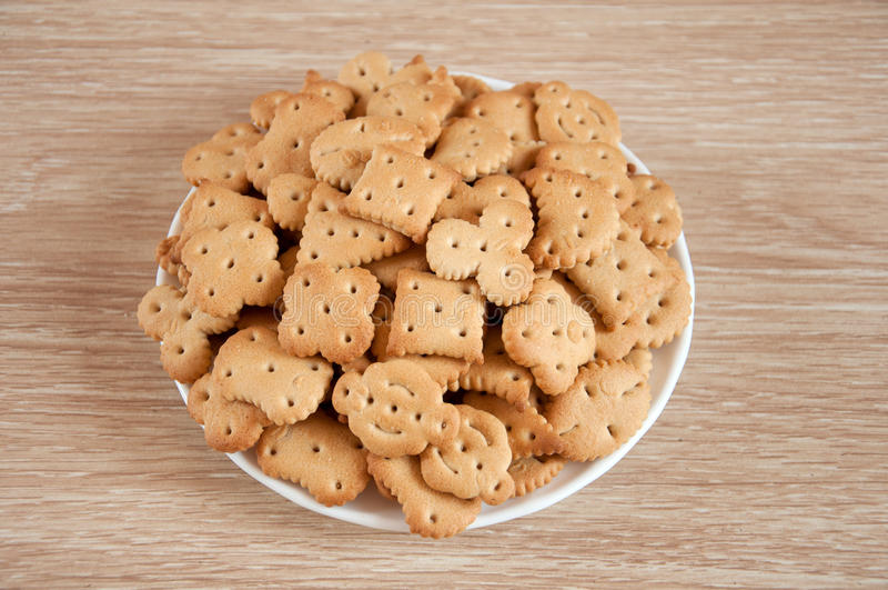 Children Figured Crackers Stock Photography