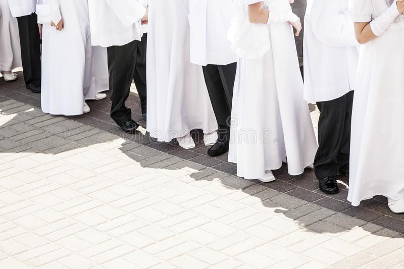 Children Before First Communion stock photography