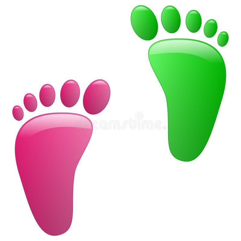 Children footprint royalty free illustration