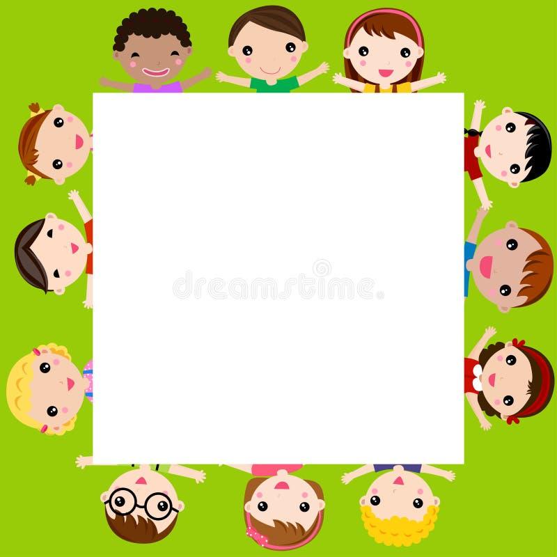 Children and frame stock illustration