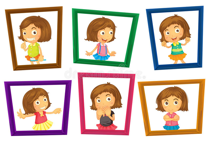 Children and frames stock vector. Illustration of square - 48025316