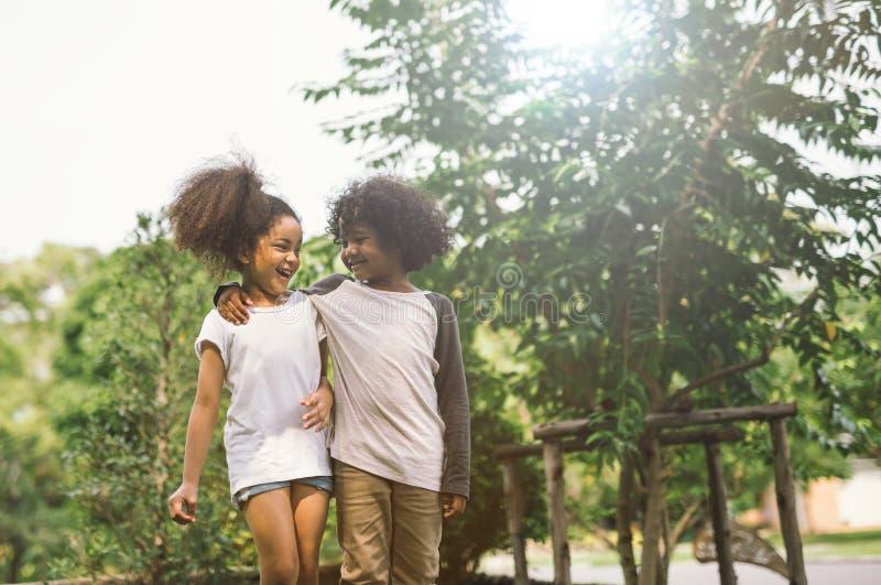 Children friendship stock photo