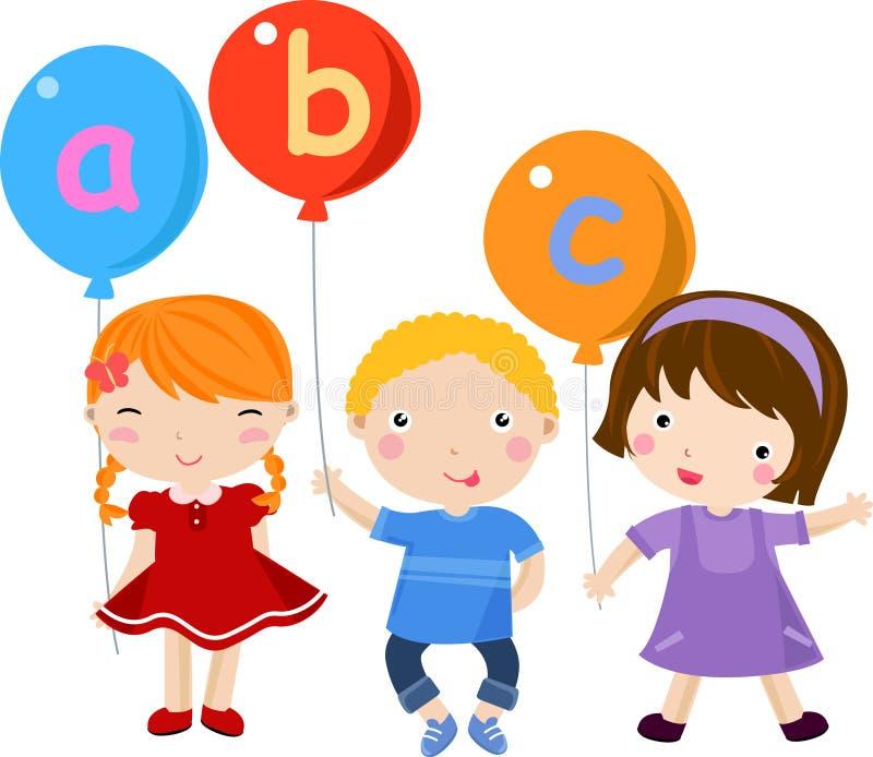 Children and fun english stock illustration