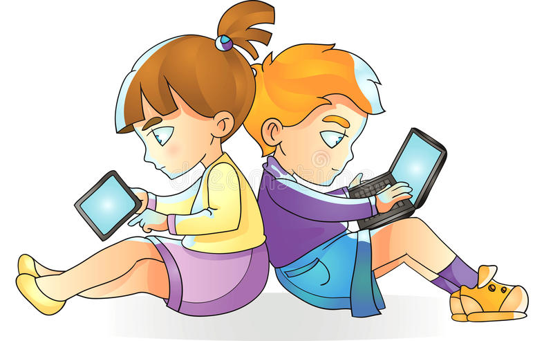 Image result for CHILDREN ON INTERNET CLIPART