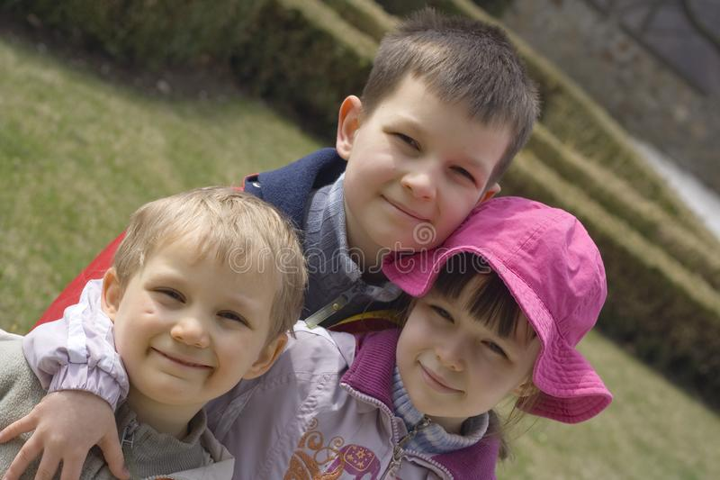 Children In Garden Free Stock Images