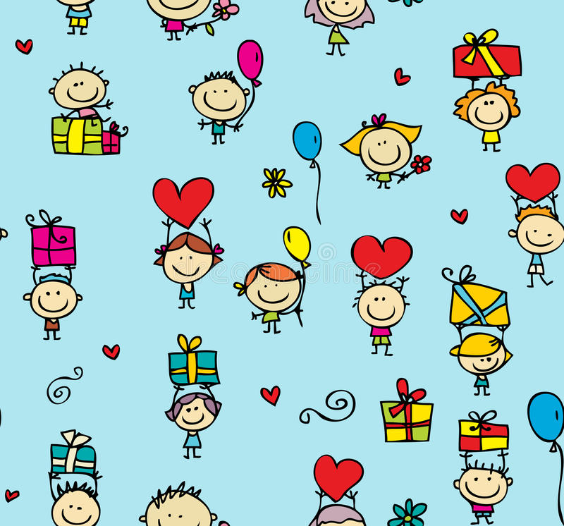Download Children With Gifts Texture Stock Vector - Image: 25783862
