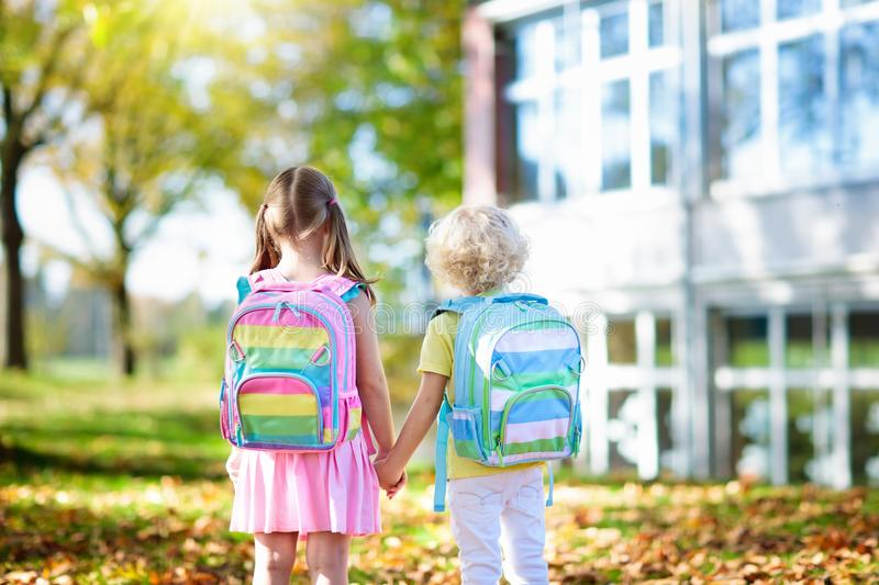 Kids go back to school. Child at kindergarten. royalty free stock photography