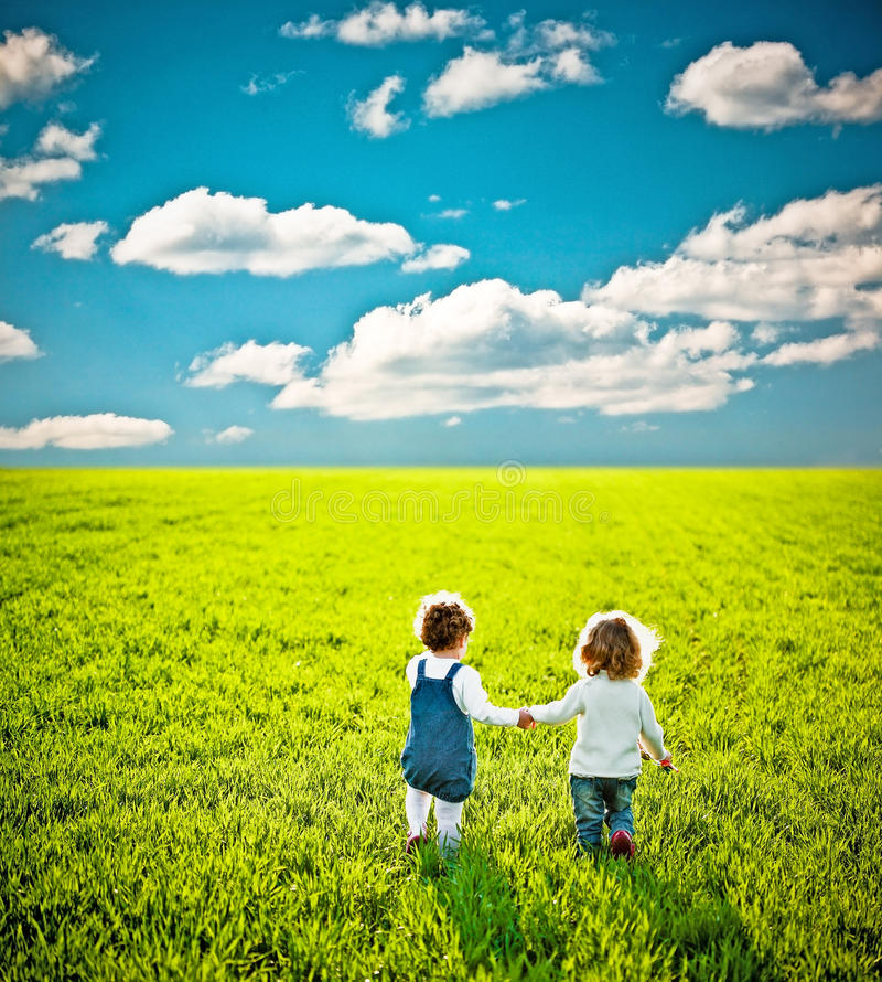 Download Children Going On Field Royalty Free Stock Images - Image: 19466059