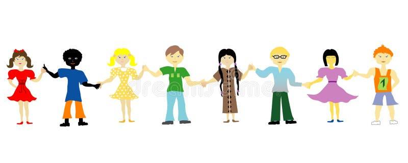 Children group vector illustration