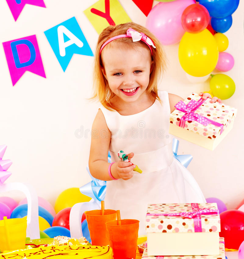 Children happy birthday party . Childhood stock images