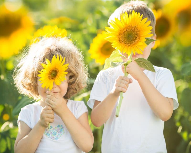 Download Children having fun stock image. Image of flower, children - 28895901