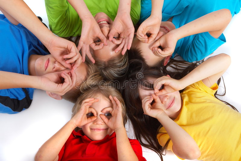 Children having fun stock images