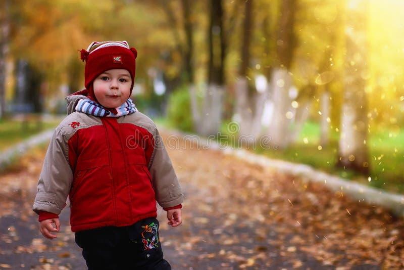 Children having fun on a walk royalty free stock image