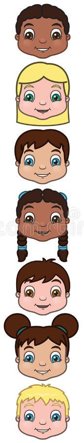 Children Heads stock image