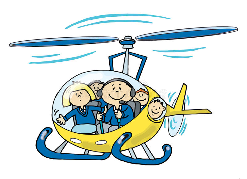 Children In A Helicopter Royalty Free Stock Photo