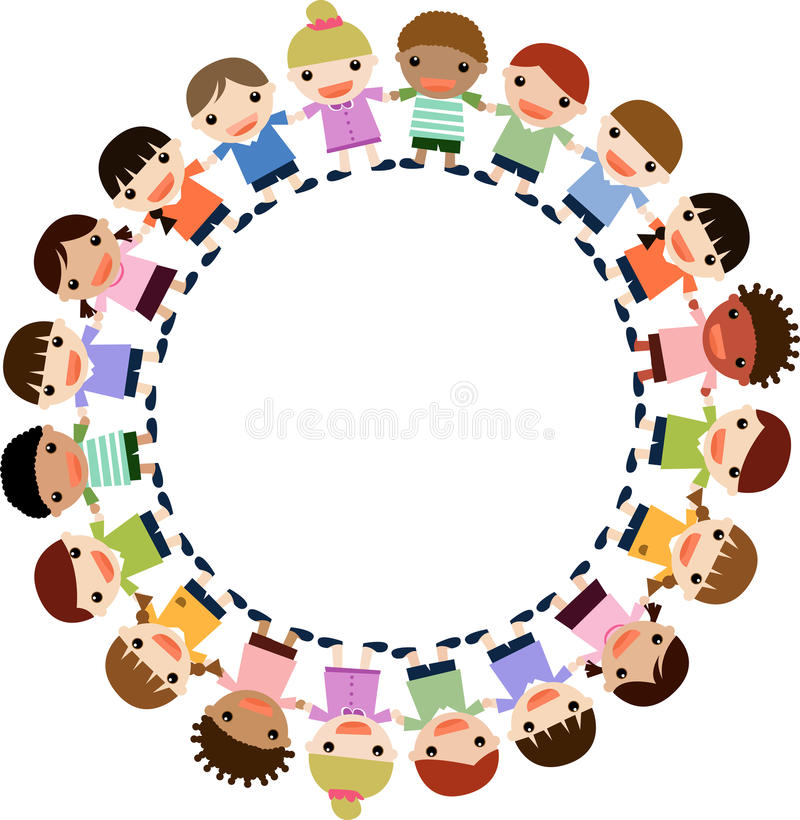 Download Children Holding Hands Standing On Top Of The Eart Stock Vector - Image: 14347080