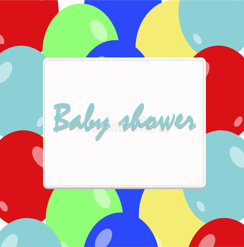 Children holiday frame with colorful balloons. royalty free illustration