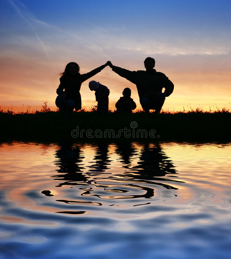 Free Children In Parents House On Sky Stock Photos - 4597663