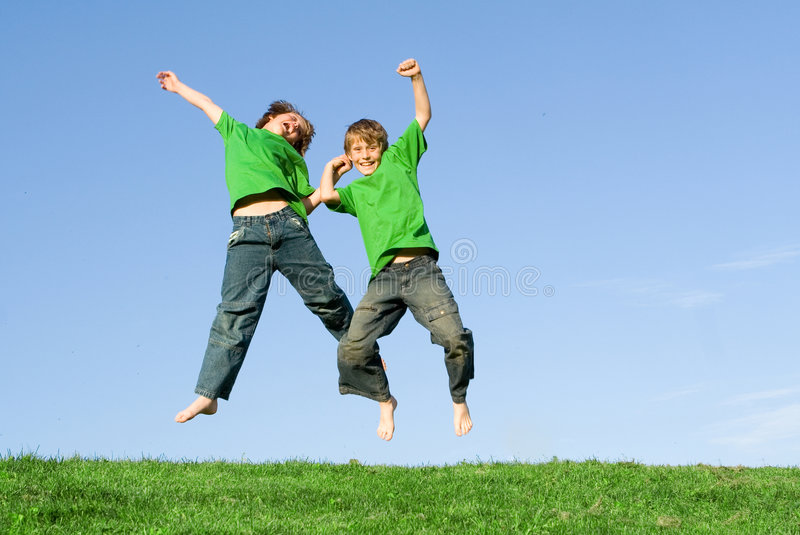 Download Children jumping stock image. Image of healthy, freedom - 2279175