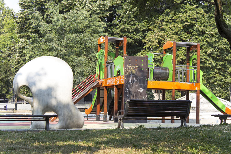 Children jungle gym royalty free stock photography