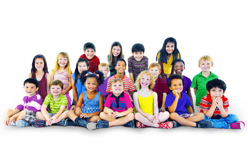 Children Kids Happines Multiethnic Group Cheerful Concept stock photos