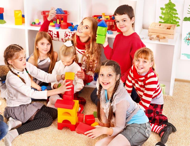 Children in kindergarten. stock photos