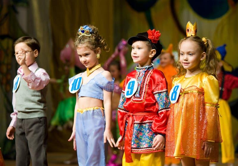 children konkursu talenty obraz stock