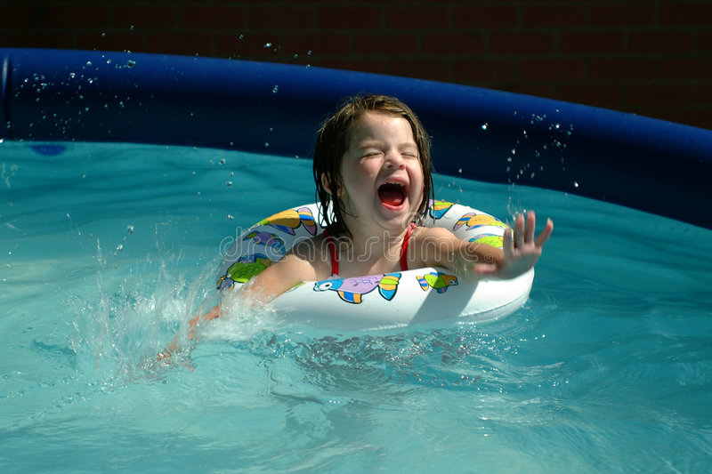 Download Children-Little Girl Splashing Stock Photo - Image of playtime, splashing: 114610