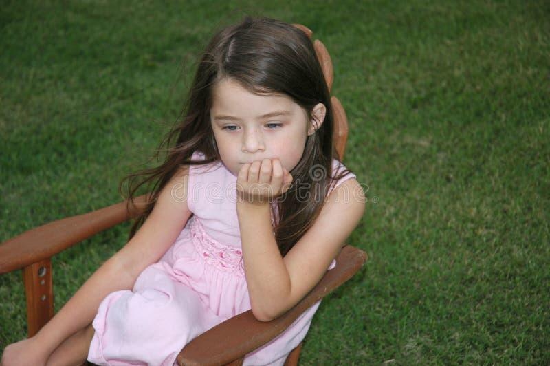 Children - Lonely Girl stock image