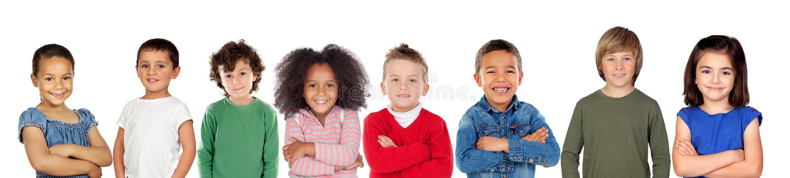 Children looking at camera royalty free stock photography