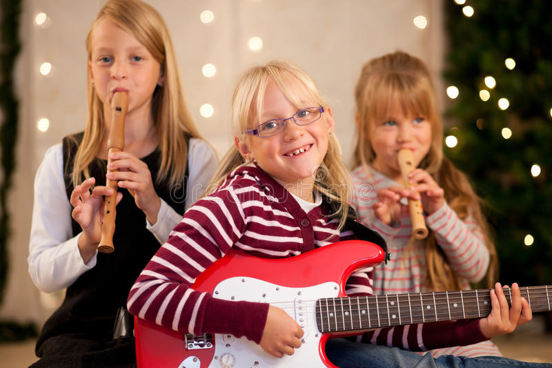 Download Children Making Music For Christmas Stock Image - Image: 16587267