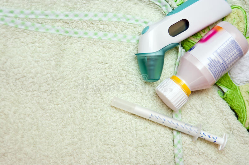 Download Children medicine stock photo. Image of sickness, thermometre - 18835550