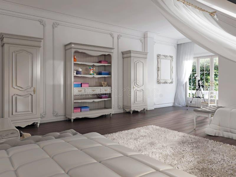 Children& x27; mobília de s no estilo de Provence no children& clássico x27; s ilustração royalty free