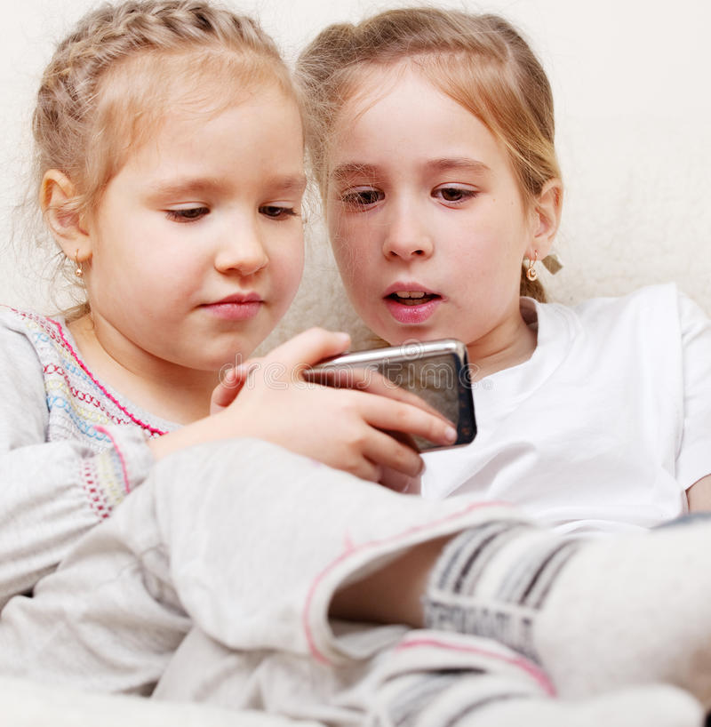 Download Children with mobile phone stock photo. Image of caucasian - 28712478