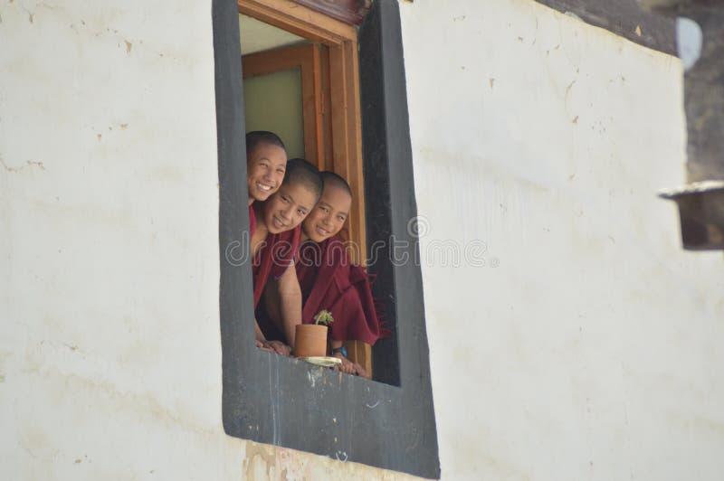 Children Monks royalty free stock photo
