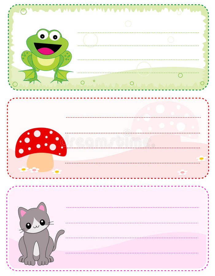 Free Children Name Cards Royalty Free Stock Photo - 21630485