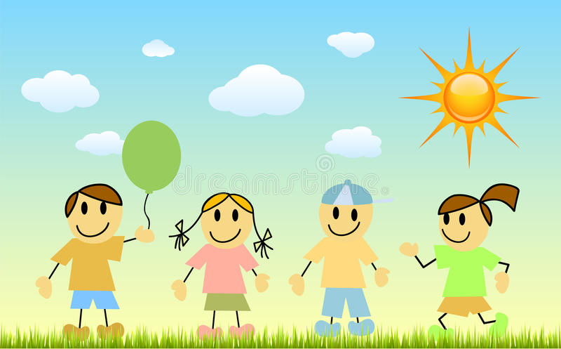 Download Children with nature stock vector. Illustration of outdoor - 14844056