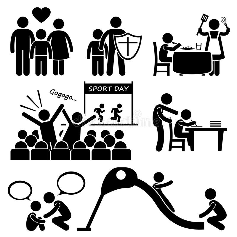 Download Children Needs Parent Love Supports Cliparts Stock Vector - Image: 40740616
