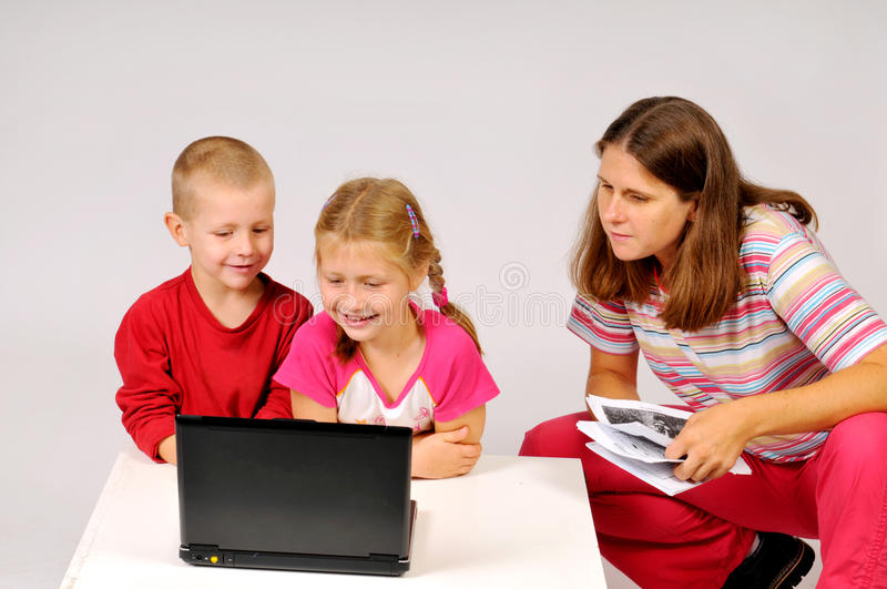 Download The children and notebook stock photo. Image of diversion - 15554158