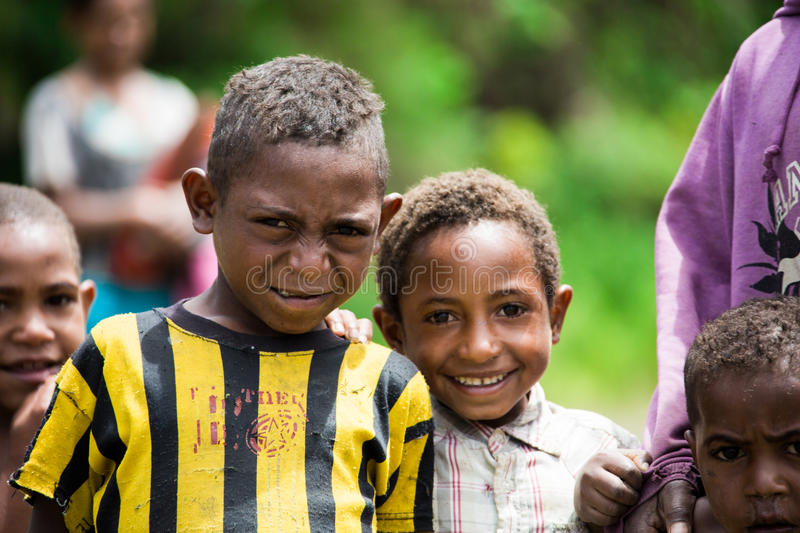 Children of Papua New Guinea. People of Papua New Guinea stock photo