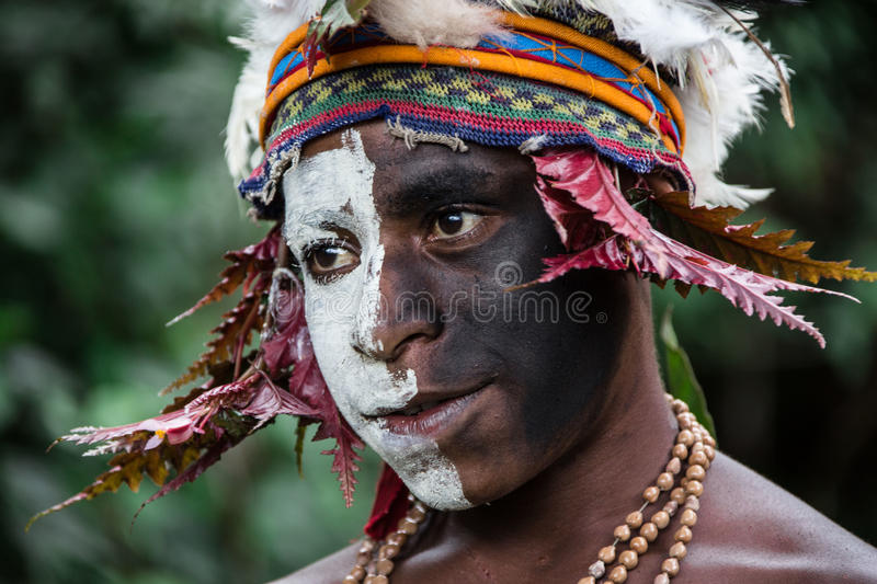 Children of Papua New Guinea. People of Papua New Guinea royalty free stock photos