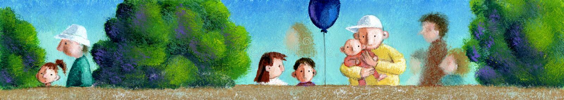 Children park royalty free illustration