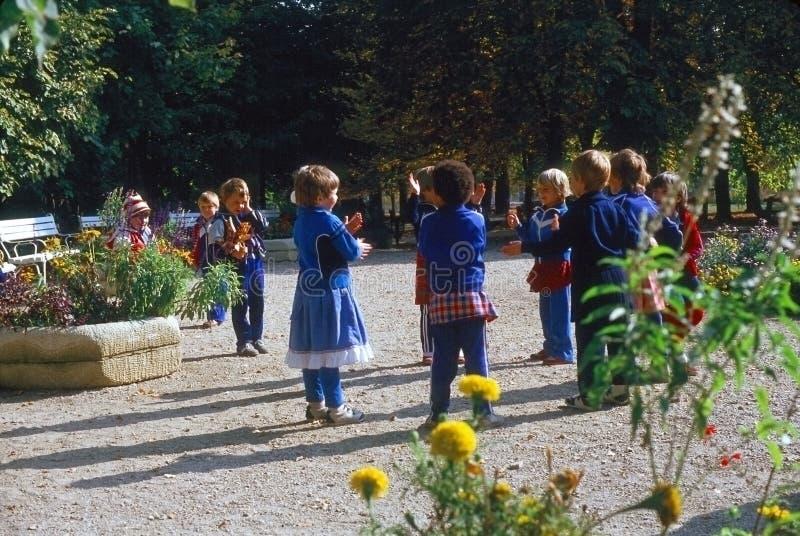 Children in park stock photo
