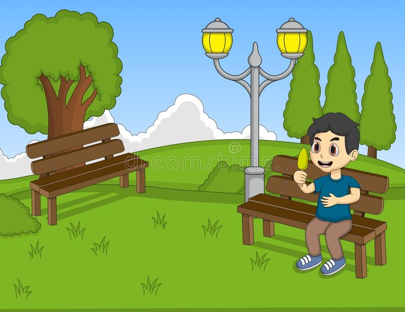 children at the park cartoon stock vector - illustration of