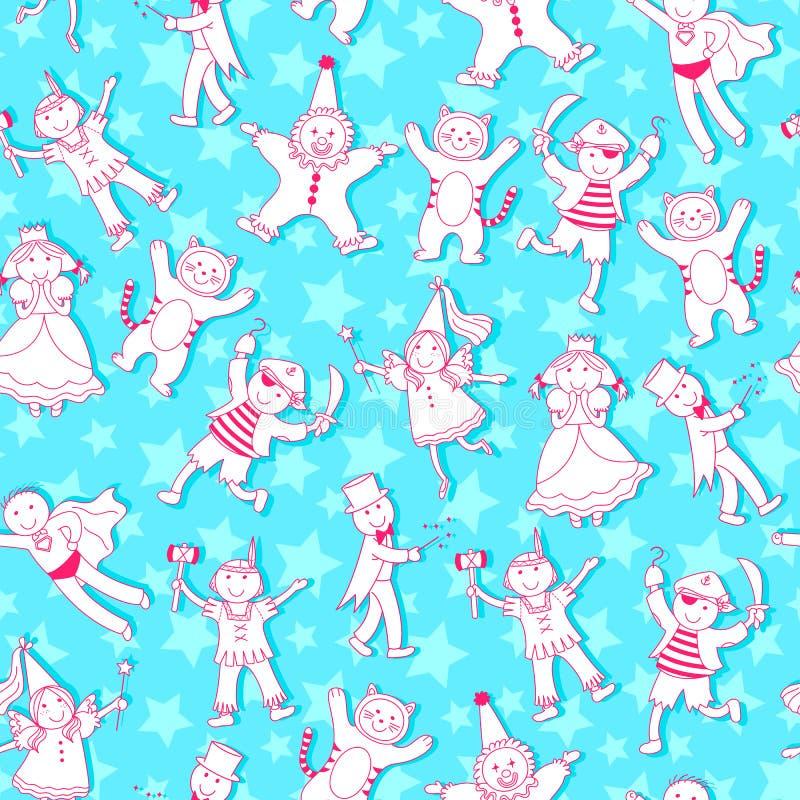 Download Children pattern stock vector. Image of fairy, friends - 23562722