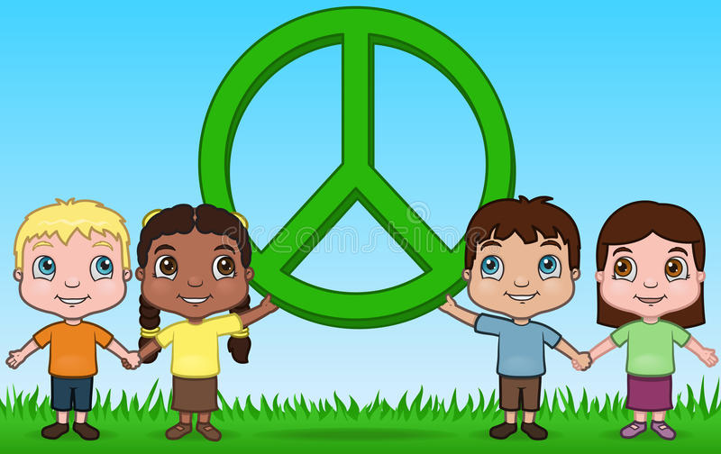 Download Children and Peace stock vector. Image of eithnic, hispanic - 13429308