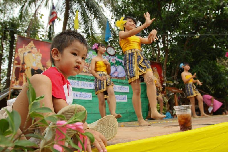 Children perform at celebrating Children's Day stock image