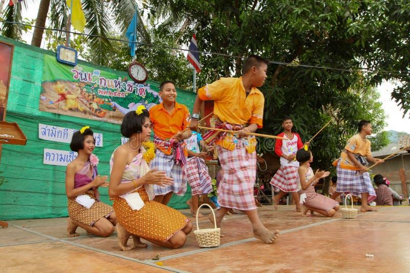 Children perform at celebrating Children's Day royalty free stock photos